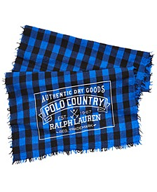 Men's Polo Country Buffalo Plaid Scarf