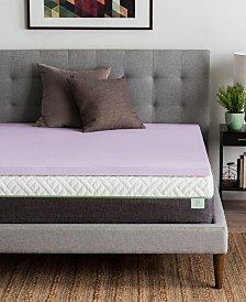 """Dream Collection by LUCID 2"""" Ventilated Lavender Memory Foam Mattress Topper, Cal King"""