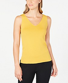 Double V-Neck Sleeveless Top