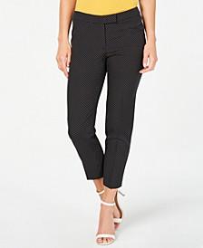 Micro-Dot Cropped Pants