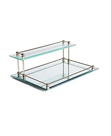 Two Tier Bevel Glass Valet Tray