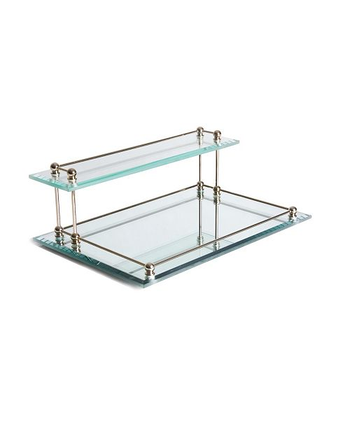 Taymor Two Tier Bevel Glass Valet Tray