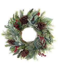 "Village Lighting Winter Frost 24"" Wreath"