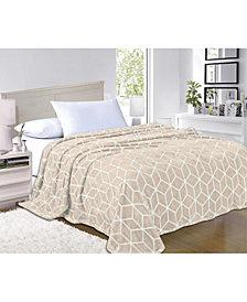 Elegant Comfort Super Silky Soft - Sale - All Season Super Plush Luxury Fleece Blanket Full/Queen Cube Design