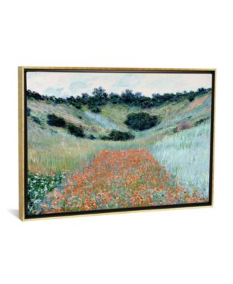 """Poppy Field in a Hollow Near Giverny by Claude Monet Gallery-Wrapped Canvas Print - 26"""" x 40"""" x 0.75"""""""