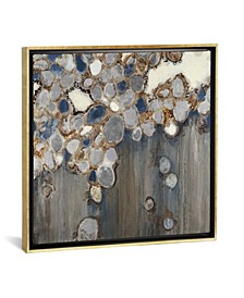 """Indigo Oyster Shells"" by Liz Jardine Gallery-Wrapped Canvas Print"