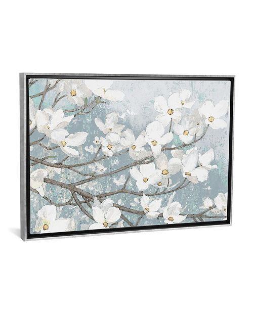 "iCanvas Dogwood Blossoms Ii in Blue Gray Crop by James Wiens Gallery-Wrapped Canvas Print - 18"" x 26"" x 0.75"""