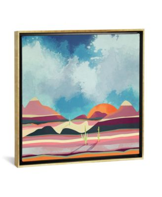 "Pink Desert Glow by Spacefrog Designs Gallery-Wrapped Canvas Print - 18"" x 18"" x 0.75"""