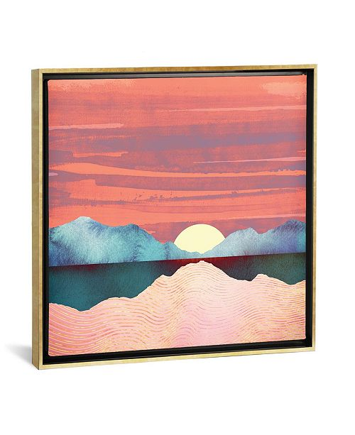 """iCanvas Pink Oasis by Spacefrog Designs Gallery-Wrapped Canvas Print - 37"""" x 37"""" x 0.75"""""""