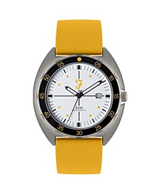 Men's the Sport Collection Yellow Silicone Strap Watch 43mm