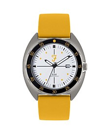 Farah Men's the Sport Collection Yellow Silicone Strap Watch 43mm