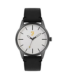 Men's the Classic Collection Black Leather Strap Watch 42mm