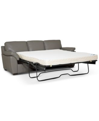 """Lothan 87"""" Leather Queen Sleeper, Created for Macy's"""