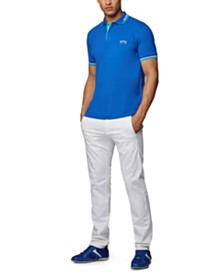BOSS Men's Paul Curved Cotton-Piqué Polo Shirt
