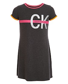 Calvin Klein Big Girls A-Line Logo Ringer Dress