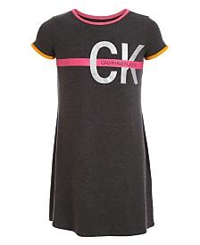 Calvin Klein Big Girls A-Line Logo Ringer Dress