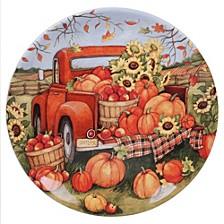 Harvest Bounty Round Platter