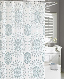 Cotton Printed Medallion Shower Curtain