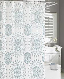 Cotton Printed Medallion Shower Curtain