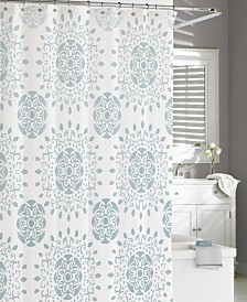 Cassadecor Cotton Printed Medallion Shower Curtain