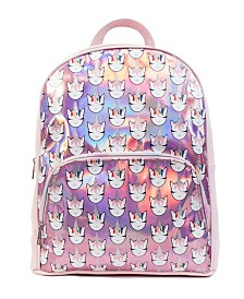 Hologram Unicorn Print Large Backpack
