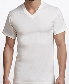Premium Cotton Men's 2 Pack V-Neck Undershirt