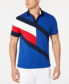 Men's Danes Custom-Fit Moisture-Wicking Colorblocked Polo Shirt
