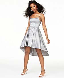 Juniors' Taffeta Ladder-Back Dress, Created for Macy's