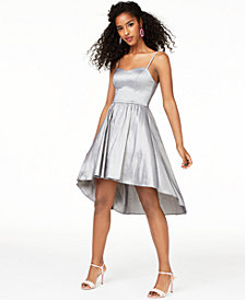 B Darlin Juniors' Taffeta Ladder-Back Dress, Created for Macy's