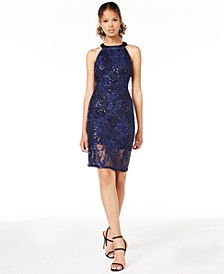 Juniors' Strappy Lace Bodycon Dress, Created for Macy's