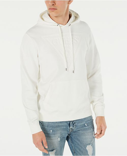 GUESS Men's Roy Popover Logo Hoodie