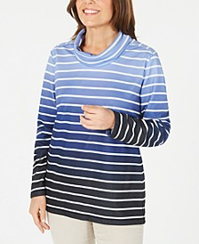 Petite Ombré Striped Top, Created for Macy's