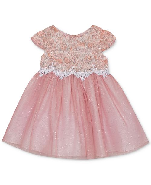 Rare Editions Baby Girls Sparkle Lace Dress