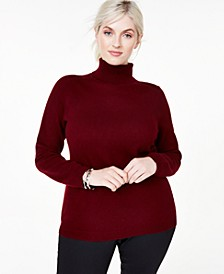 Plus Size Cashmere Turtleneck Sweater, Created For Macy's