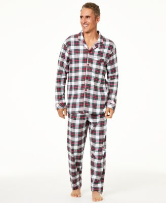 Matching Men's Stewart Plaid Pajama Set, Created For Macy's