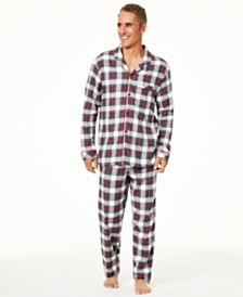 Matching Family Pajamas Big & Tall Stewart Plaid Pajama Set, Created For Macy's