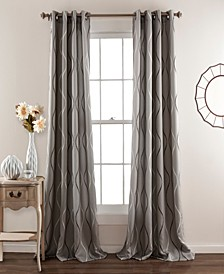 "Textured Swirl 52"" x 84"" Curtain Set"