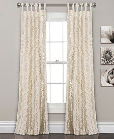 "Sophia Ruffle 84""x40"" Window Panel Set"