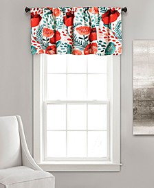 "Poppy Garden 52"" x 18"" Floral Window Valance"