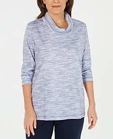 Petite Funnel-Neck Space-Dyed Top, Created For Macy's