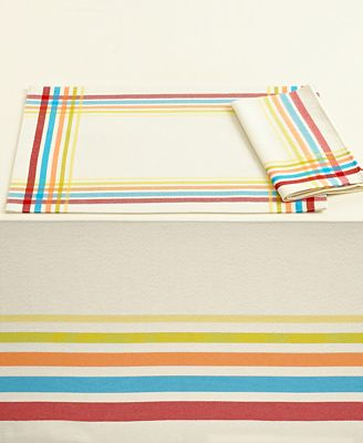 Fiesta Table Linens Set Of 4 Classic Plaid Placemats