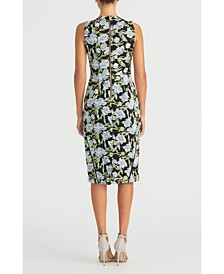 RACHEL Rachel Roy Embroidered Mesh Sheath Dress