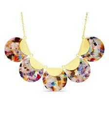 Catherine Malandrino Women's Disc Chain Bib Necklace