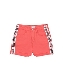 Bebe Girls Coral Twill Short With Logo Taping