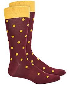 Bar III Men's Polka Dot Socks, Created for Macy's