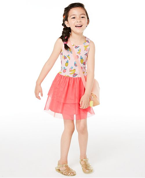 Epic Threads Toddler Girls Fruit-Print Tulle Dress, Created for Macy's