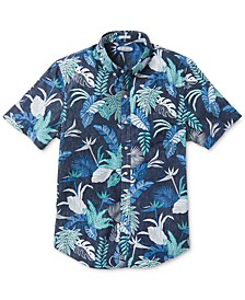 Men's Tailored-Fit Phil Edwards Bangkok Floral Short Sleeve Shirt