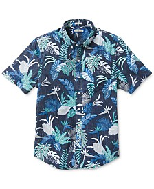 Reyn Spooner Men's Tailored-Fit Phil Edwards Bangkok Floral Short Sleeve Shirt