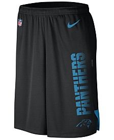 Nike Men's Carolina Panthers Player Knit Breathe Shorts