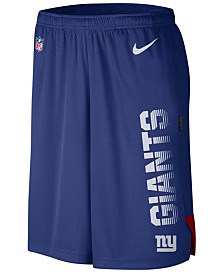Nike Men's New York Giants Player Knit Breathe Shorts